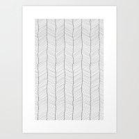 herringbone Art Prints featuring Herringbone by EtOfficina