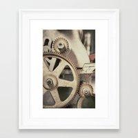 gears of war Framed Art Prints featuring Gears by BrandonAddisArt