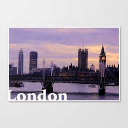 London in the evening Canvas Print
