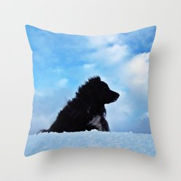 Dog in the Sky Throw Pillow