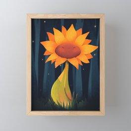 Midnight Sunflower Framed Mini Art Print