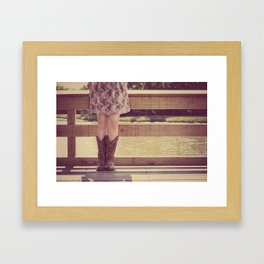 Thank God I Was Born a Country Girl Framed Art Print