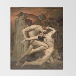 Dante and Virgil in Hell Throw Blanket