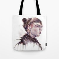 grimes Tote Bags featuring Grimes II by beart24