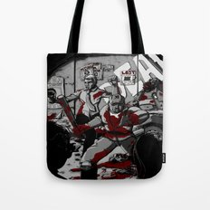 Zombie Rush (Gray Tone Version) Tote Bag