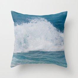 Hookipa Splash Waves Beach Break Shore Break Pacific Ocean Maui Hawaii Throw Pillow