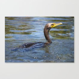 Swamped Ancient Canoe Canvas Print