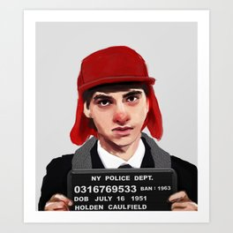 Banned Books Mugshots: Holden Art Print