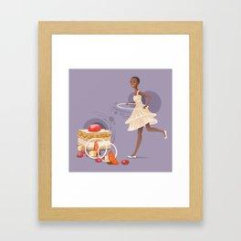Blood Orange Millefeuille Framed Art Print