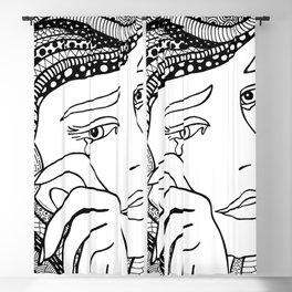 Roy Lichtenstein - Crying girl Blackout Curtain