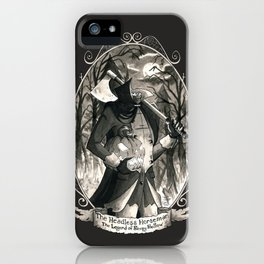 Portrait: Headless Horseman (Sleepy Hollow) iPhone Case