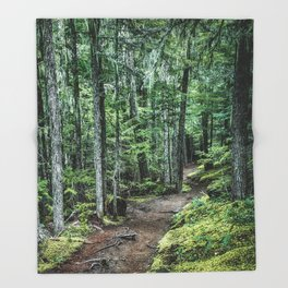 Nature Landscape Forest Trail Throw Blanket