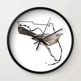 Florida – Northern Mockingbird Wall Clock