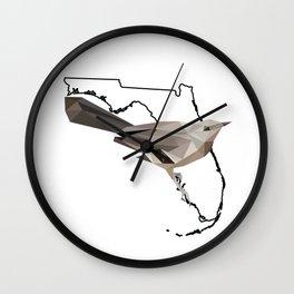 Florida – Northern Mockingbird Wall Clock
