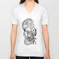 karma V-neck T-shirts featuring Karma by allenletson