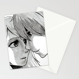 The Moment Before a Kiss Stationery Cards