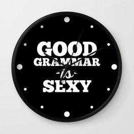 Good Grammar Funny Quote Wall Clock