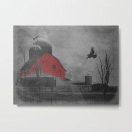 Rustic Red Barn A659 Metal Print