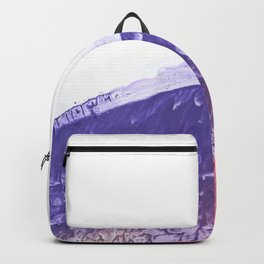 Abstract violet and pink watercolor Backpack