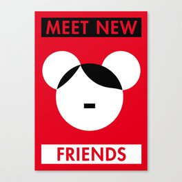 Illustrated new year wishes: #1 MEET NEW FRIENDS Canvas Print