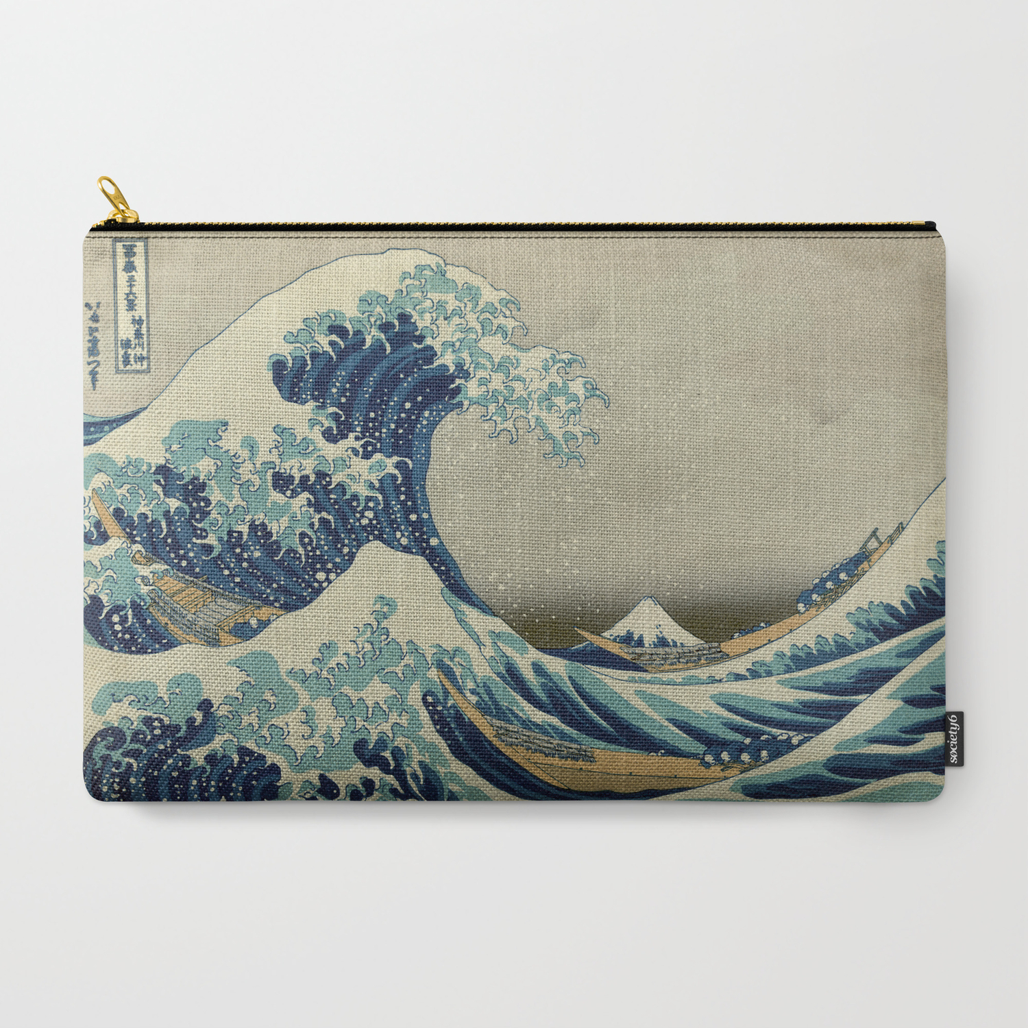 e5a5c4de9ecc9 The Classic Japanese Great Wave off Kanagawa Print by Hokusai Carry-All  Pouch