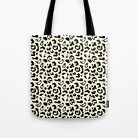leopard Tote Bags featuring Leopard by Laura Maria Designs