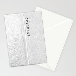 o p t i m i s t w h i t e Stationery Cards