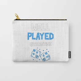 Well Played Quarantine Twins Funny Pregnancy Carry-All Pouch