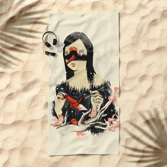 The Crane Wife Beach Towel