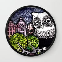 lonely Wall Clocks featuring lonely by Burcak Kafadar