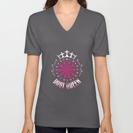 Dart Queen - Darts Player Unisex V-Neck