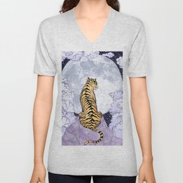 Tiger Moon | Colour Version Unisex V-Neck