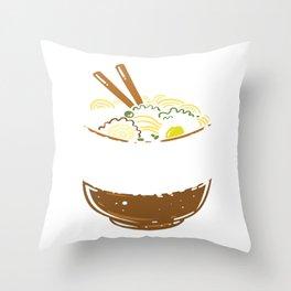Ramen Kawaii Noodle Funny Gift Throw Pillow