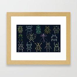 Bug Collection Framed Art Print