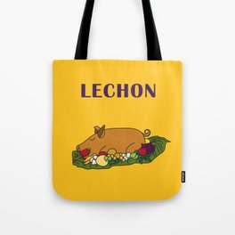 Filipino Kitchen Loteria - Lechon Tote Bag