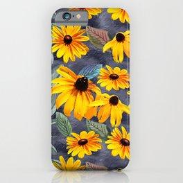Black-eyed Susan Pattern iPhone Case