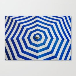 Blue Umbrella Pattern Canvas Print