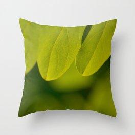 Green beauty Throw Pillow