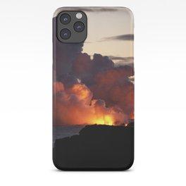 Lava Vaporizes Ocean iPhone Case
