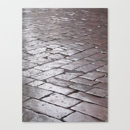 Old street stone tiles Canvas Print