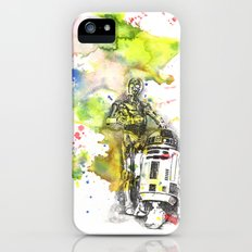 C3PO and R2D2 from Star Wars iPhone (5, 5s) Slim Case