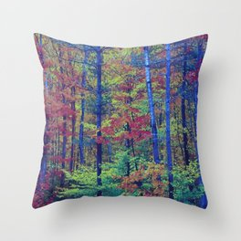 Forest - with exaggerated colors Throw Pillow