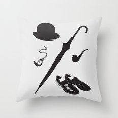 Gentleman's Accoutrements Throw Pillow