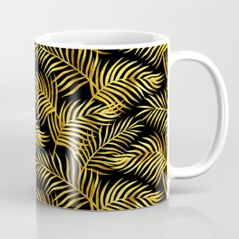 Palm Leaves_Gold and Black Coffee Mug
