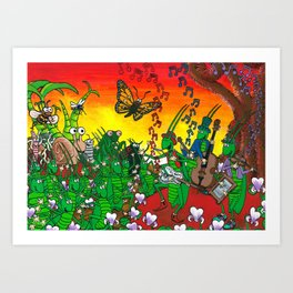 Twilight Hop Art Print