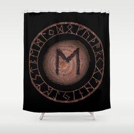 Eihwaz Elder Futhark Rune Strength, reliability, dependability, trustworthiness. Enlightenment Shower Curtain