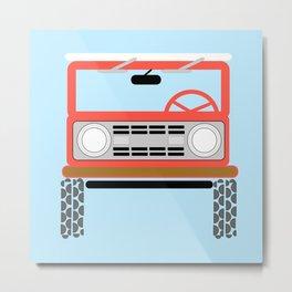 Off Road Red/Blue Metal Print