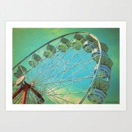 Country Fair Ferris Wheel #3 Art Print