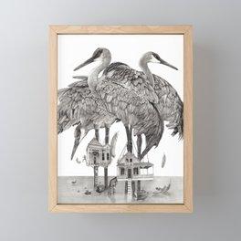 Birdhouses Framed Mini Art Print