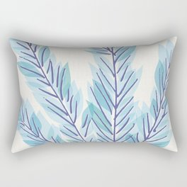 Blue Juniper Branches Botanical Rectangular Pillow